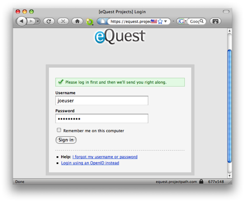 eQuest Support
